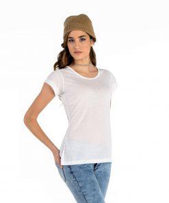 Бяла Дамска Тениска Cotton touch